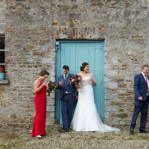 Bridal Party Courtyard at Longueville House