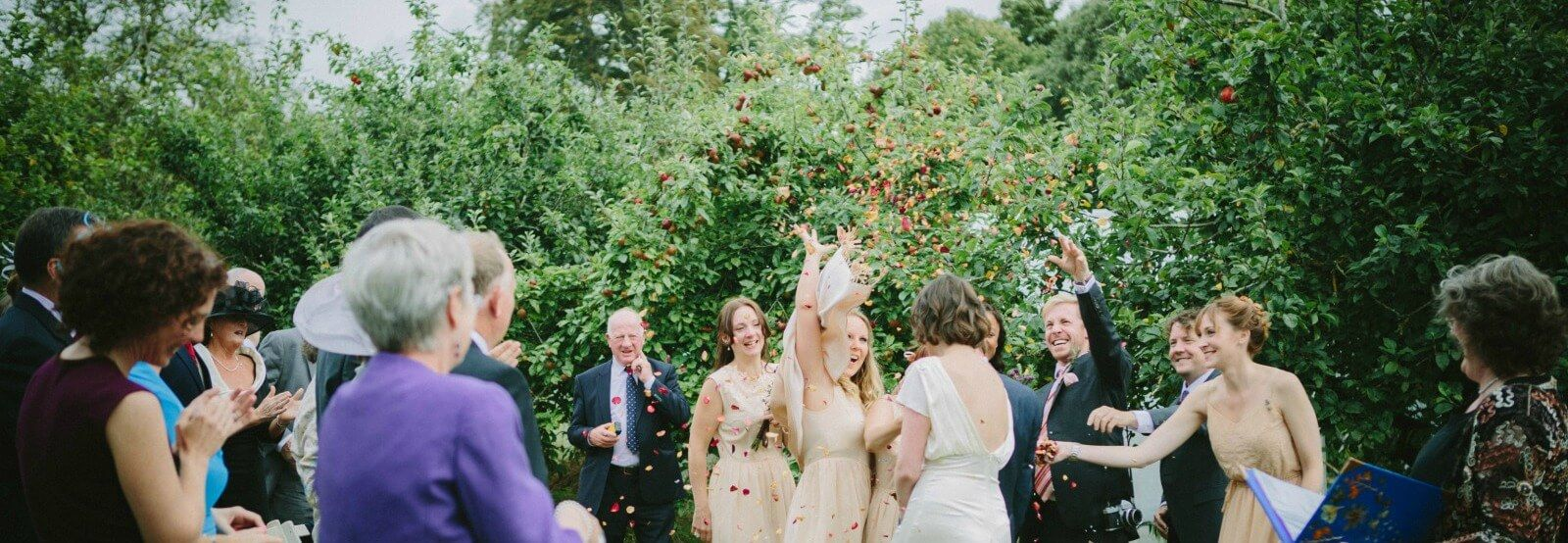Outdoor Wedding Ceremony at Longueville House